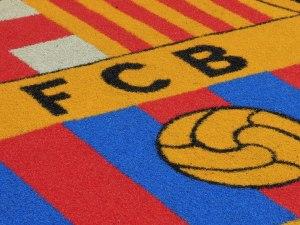 Barcelona FCB on the pitch